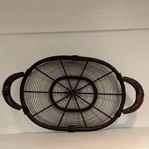 Vintage Twisted Oval Wire Tray